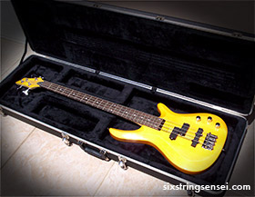 Cheap Bass Guitar and Case
